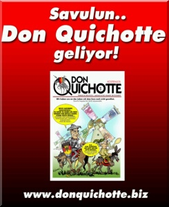 Türkçe Almanca Mizah Dergisi Don Quichotte 26 Nisan'da çıktı... Birinci sayısını okumak için tıklayınız...